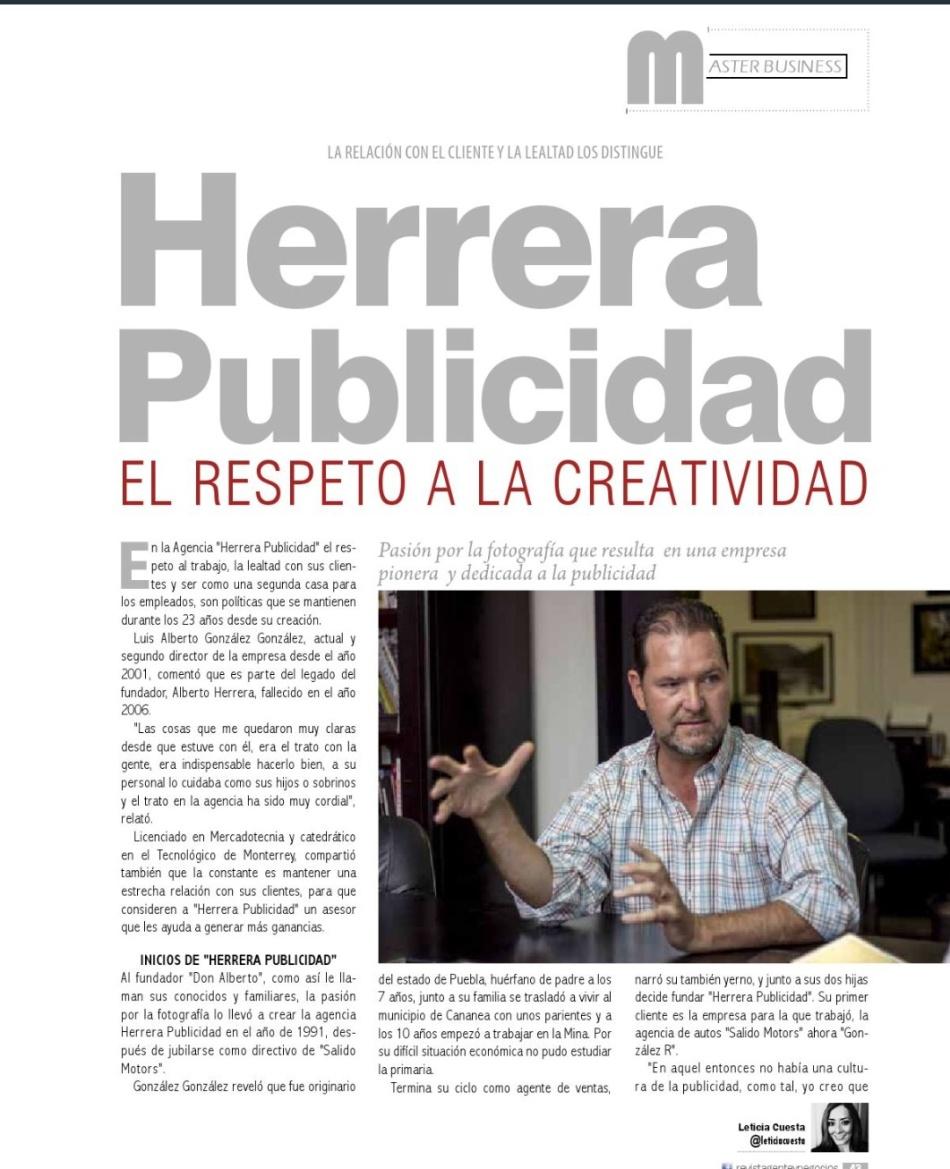 Herrera Publicidad, respeto a la creatividad